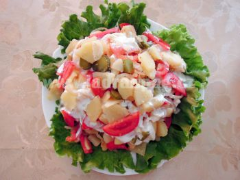 zeleninový salát s jogurtem