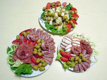 Obložené talíře